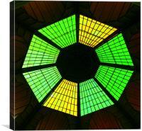 The sun green glass