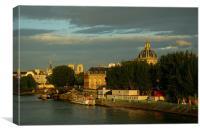Sun in Paris, Canvas Print