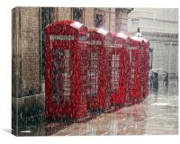 London Telephone Boxes, Canvas Print