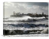 Brighton Storm, Canvas Print