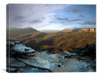 The Blue Mountains at Dawn, Canvas Print