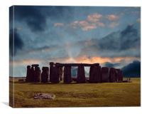 stonehenge at dusk, Canvas Print
