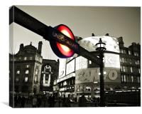 Piccadilly Underground sign, Canvas Print
