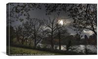 Derwentwater Autumn Dusk, Canvas Print