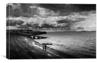 Promenade Silloth on Solway, Canvas Print