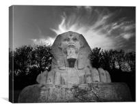 the Crystal Palace Sphinx, Canvas Print
