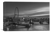 westminster night, Canvas Print