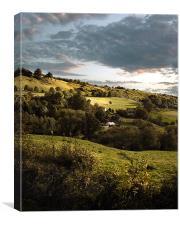 Gloucestershire dusk, Canvas Print