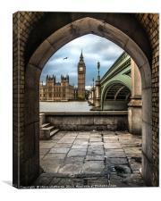 Big Ben across the Thames, Canvas Print