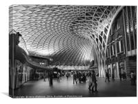 Kings Cross Station London, Canvas Print