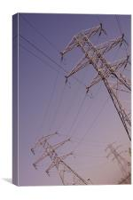 power lines, Canvas Print