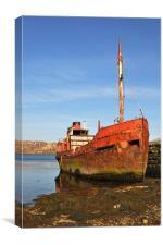 Old rusty trawler, Canvas Print