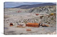 Abandoned quarry, Canvas Print