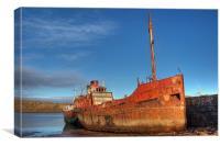 Old rusty trawler 2, Canvas Print