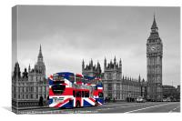 Union Jack Bus, Canvas Print
