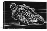Motorbike Racing, Canvas Print