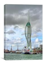 Spinnaker Tower and Leander G, Canvas Print