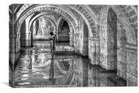 Winchester Cathedral Crypt, Canvas Print