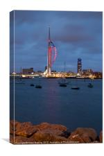 Spinnaker Tower in Red, Canvas Print