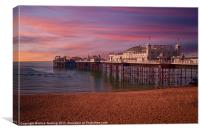 Brighton Pier Sunrise, Canvas Print