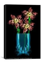 Smokey Flowers, Canvas Print