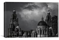 The Three Graces B&W, Canvas Print