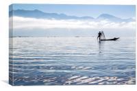 Inle Lake Fisherman, Canvas Print