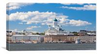 Helsinki Cathedral and Market Square, Canvas Print