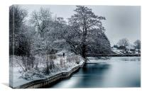 a winters day walk...., Canvas Print