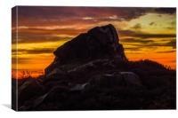 ROCKFACE AT SUNRISE, Canvas Print
