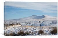Brecon Beacons Winter , Canvas Print