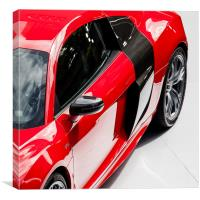 Red Audi R8 V10, Canvas Print