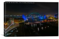 Tyne and Swing Bridge, Canvas Print