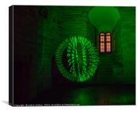 Green Orb at Newcastle Keep, Canvas Print
