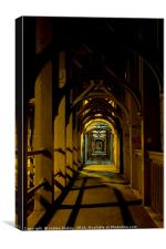 Walkng the High Level Bridge, Canvas Print