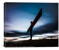 Angel of the North after Sunset, Canvas Print