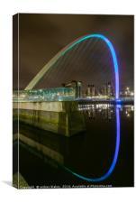 Gateshead Blinking eye, Canvas Print