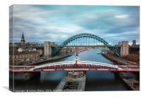Tyne and Swing Bridge, Canvas Print