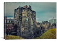 The Black Gate,Newcastle, Canvas Print