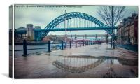 Tyne Bridge Reflection, Canvas Print