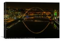 Quayside after dark, Canvas Print
