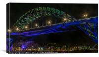 Tyne Bridge and Newcastle Quayside, Canvas Print