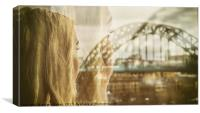 Looking Back along the tyne, Canvas Print