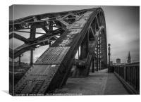 Tyne Bridge Walkway, Canvas Print