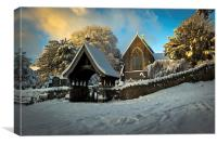 St Catwg's Church, South Wales, Canvas Print