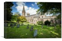 Llandaff Cathedral in Wales, Canvas Print