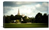 Llandaff Cathedral Gothic, Canvas Print