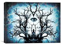 Tree of Life Archetype Religious Symmetry, Canvas Print