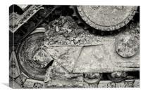 Bulldozer Dirt Fest, Canvas Print