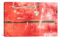 Etched Scratchings of a Mad Red Monk, Canvas Print